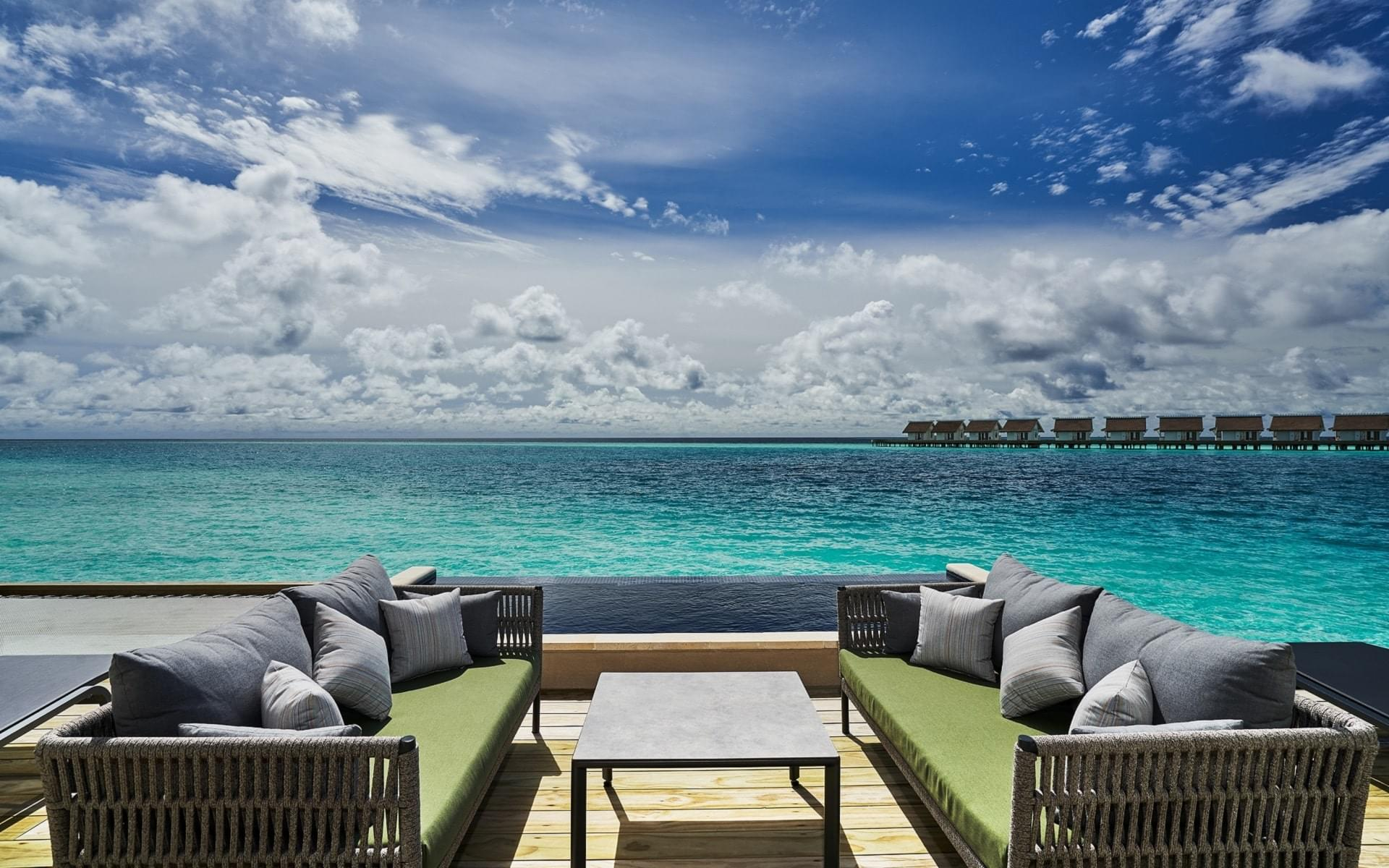 Rock royalty overwater pool villa