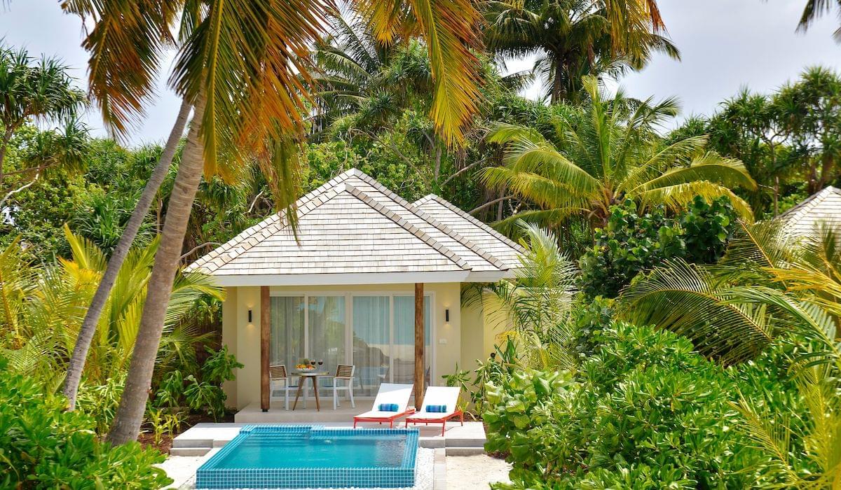 Sunrise beach pool villa with jacuzzi