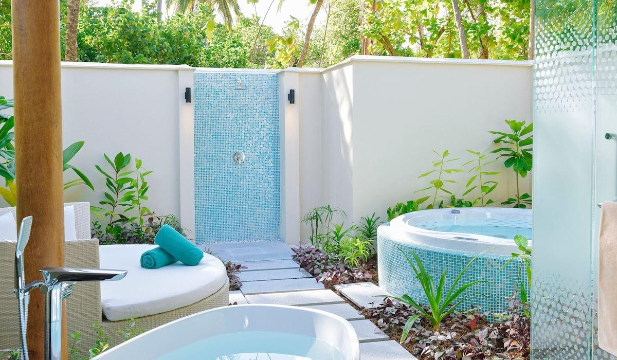 Sunset beach pool villa with jacuzzi