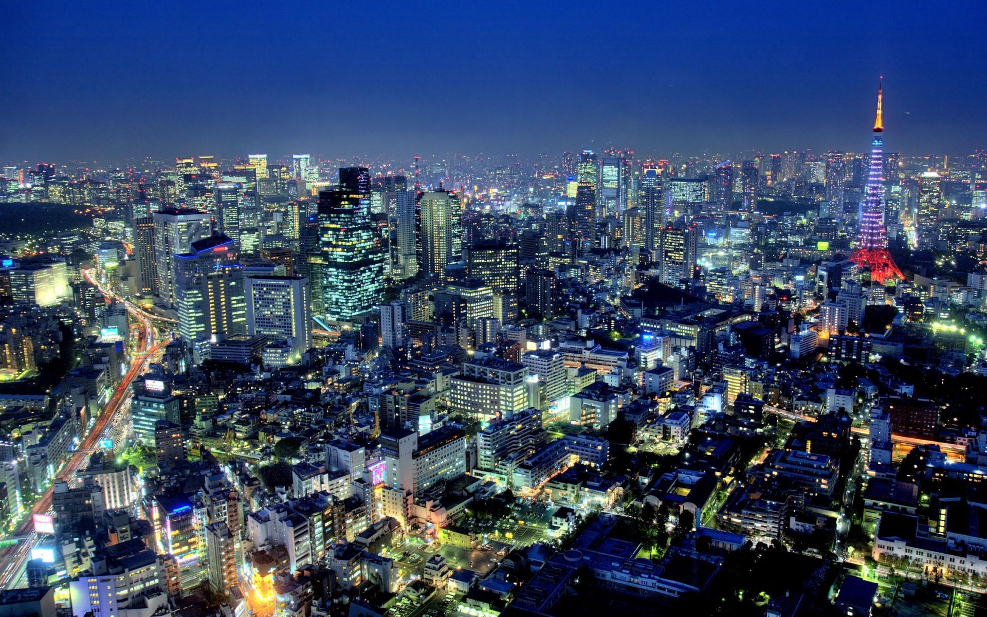 фото города токио япония